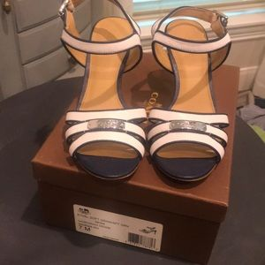Coach Blue and white sandals